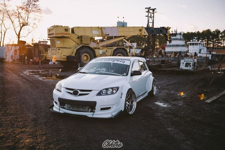 #Mazda_M3 #Hatch #Modified #Slammed #WideBody_Flares