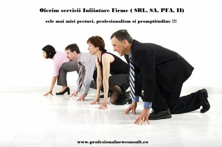 Vrei sa ai un start bun in afacerea ta ?! Infiinteaza firma cu NOI - Profesional New Consult asigura servicii de infintare firme ( SRL, SA, PFA, II) . Cele mai mici preturi !!! OFERTA SPECIALA, cost 0(zero) pentru infiintare firma daca semnati un contract de servicii contabilitate pentru minim un an cu firma noastra !!! mai multe detalii :http://www.profesionalnewconsult.ro/consultanta-juridica/infiintare-firme-pfa-ii telefon 0784.045.025