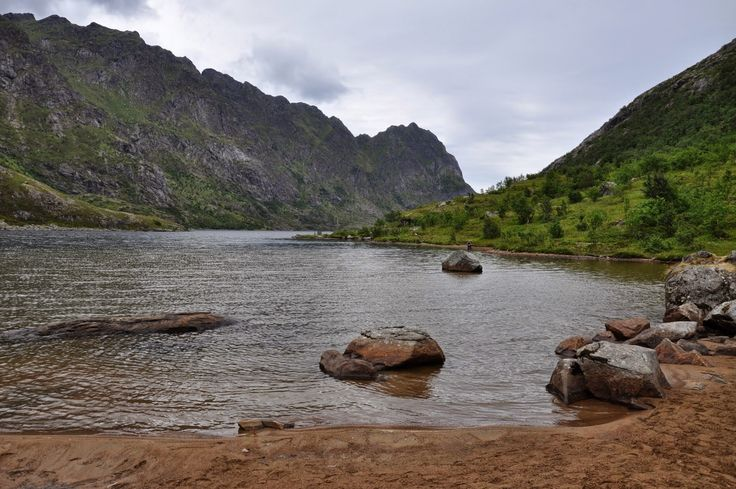 Escursione lungo il lago  #Ågvatnet ... villaggio di #Å.... #Lofoten