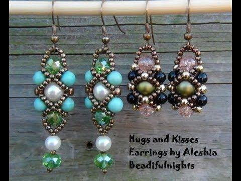 Hugs and Kisses Beaded Earrings Tutorial - YouTube