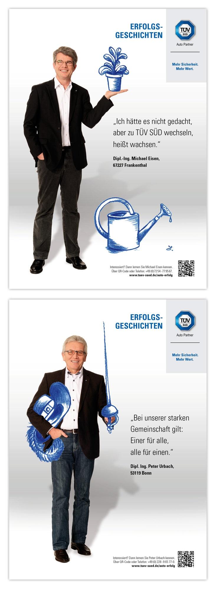 TÜV SÜD Auto Partner. Kampagne zur Partnergewinnung 2013. Anzeigen.