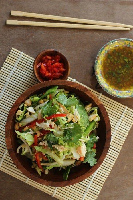 Crunchy Thai Chicken Salad | Foodness Gracious