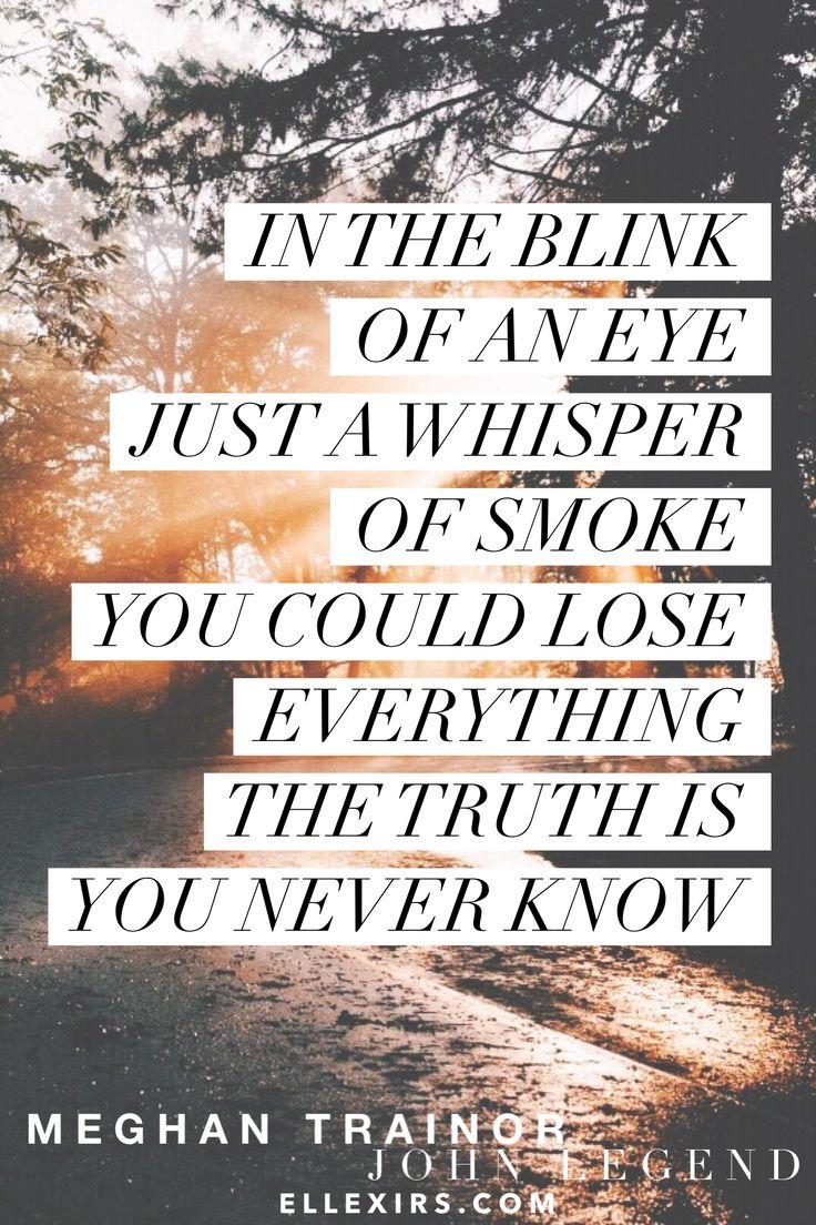 Like I'm Gonna Lose You. #MeghanTrainor #JohnLegend #lyrics