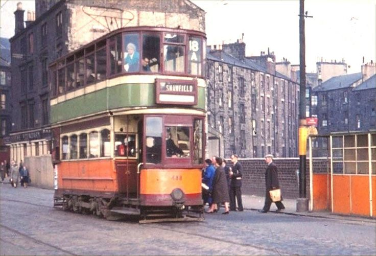 1950s Glasgow tram, this one bound for Shawfield ...