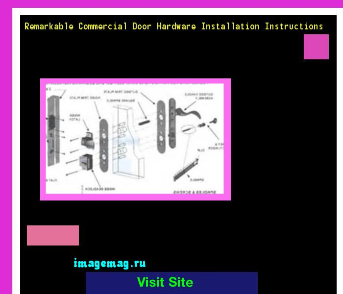 Remarkable Commercial Door Hardware Installation Instructions 215237 - The Best Image Search