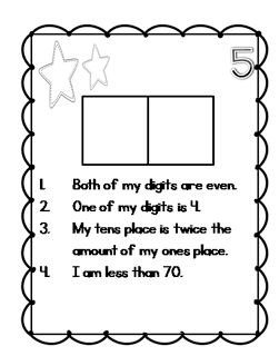 Number sense brain teasers-- great for end of the year higher order thinking practice or fast finishers