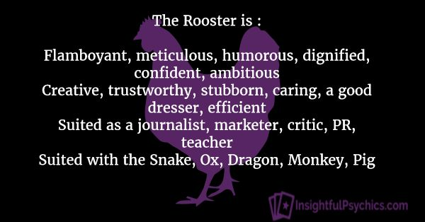 Year of the Rooster – Zodiac Love, Compatibility and Personality ...