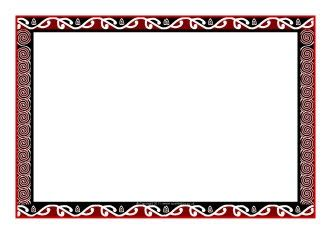 School Ideas / Maori art-themed A4 page borders