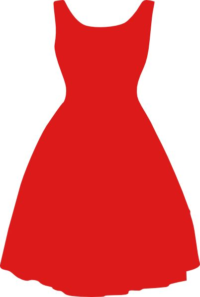Dress Outline Coloring Little Black Dress Clip Art