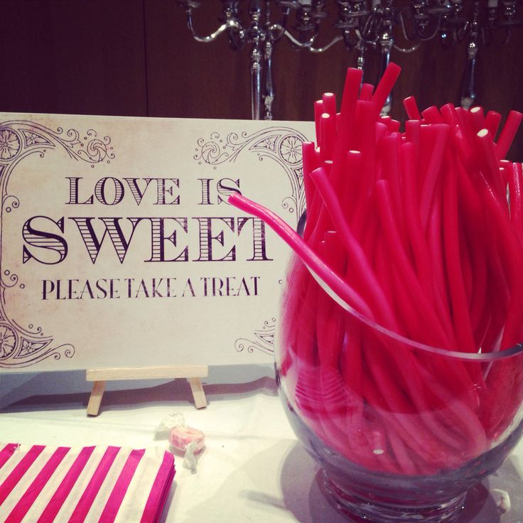 Candy buffet sign! I agree, love is sweet :-) I purchased this gorgeous vintage sign from eBay. Was great value and even came with a stand. I'll use this on all my bookings now!