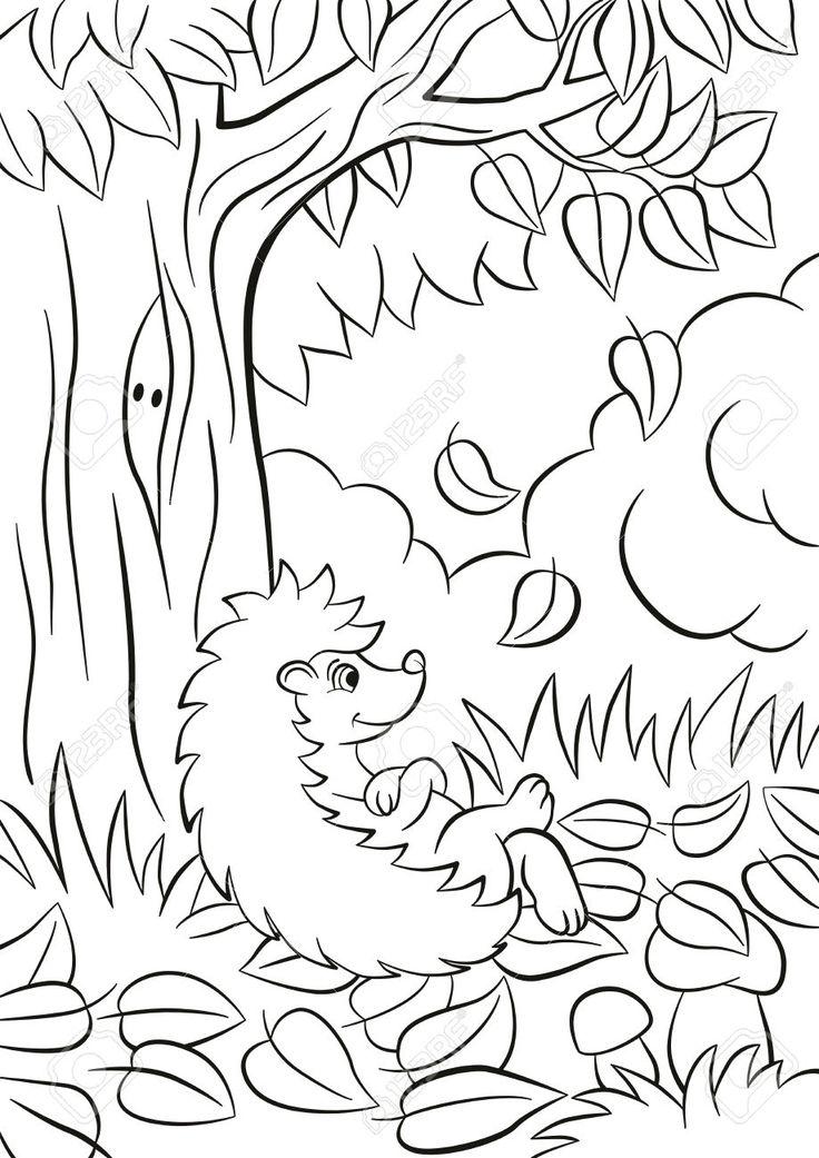 Bildergebnis für ježek z listí pinterest