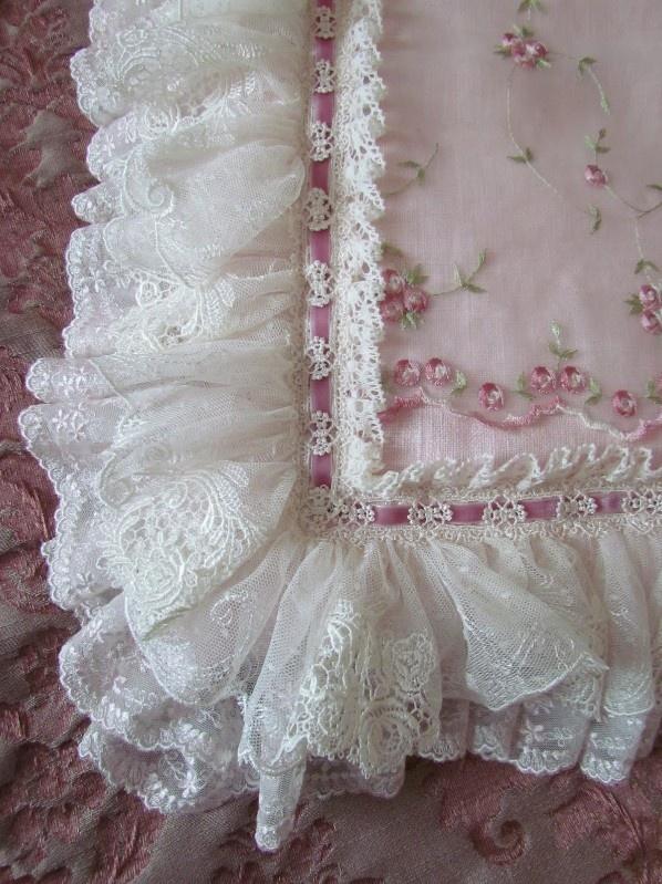 Frills, Ruffles & Tiny Stitched Roses... Shabby Chic Heaven!!!