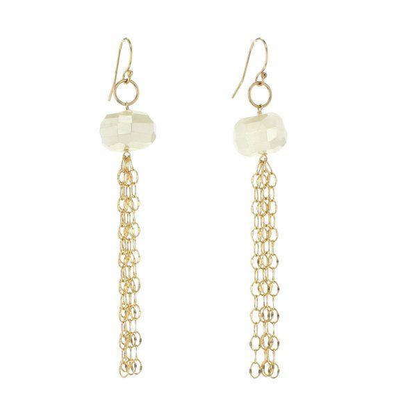 Nugget Cascade Earrings Gold by lotusjewelrystudio on Etsy