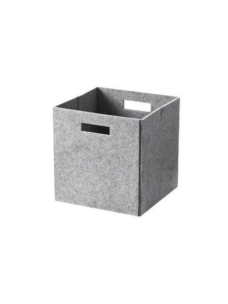 Foldbar opbevaringsboks i filt - grå