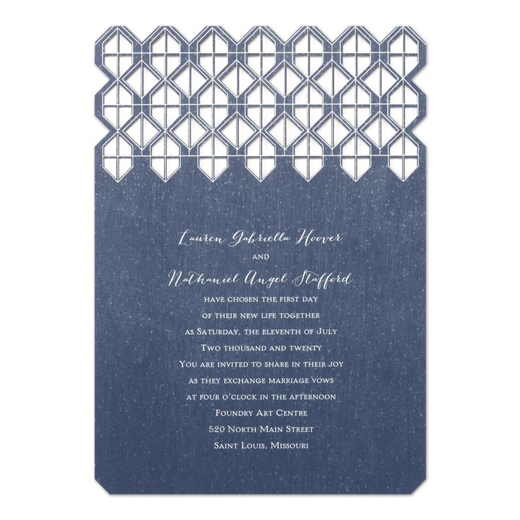 sample spanish wedding invitations%0A Geometric Vows Laser Cut Wedding Invitation