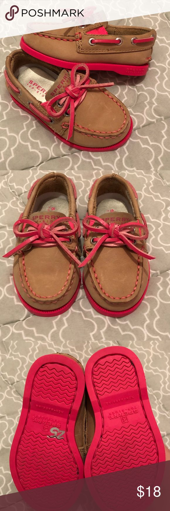 Toddler Sperry's. Size 5c toddler girl Sperry's Top-spiders. Worn once and only indoors. Sperry Top-Sider Shoes Baby & Walker