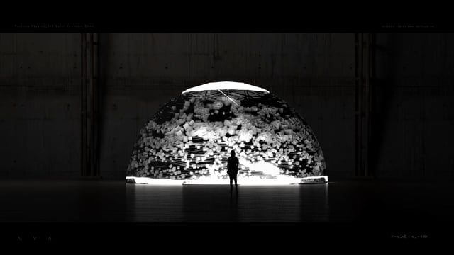 Direction_Design_Animation: Ouchhh (www.ouchhh.tv) Sound Design: Audiofil  Ava; is the surface-volume shape coefficient. The main inspiration comes from monumental experimentations which focused on particle physics. AVA's design originate from the Buckminster Fuller's iconic dome structure. It has 360 traceable area from the exterior surface of the dome.  Cosmic rays reinterpreted within the concept of AVA and the first version of the performance screened at Paris.  AVA is a Commisione...