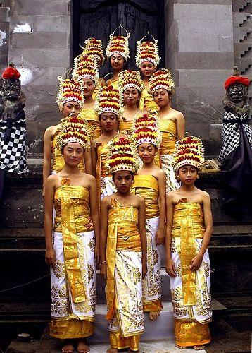 Rejang Dancers  Songan, Batur Lake, Bali