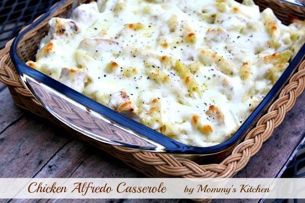 Mommy's Kitchen - Country Cooking & Family Friendly Recipes: Cheesy Chicken Alfredo Casserole.