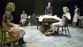 Michelle Fairley (Kate), Niamh Cusack  (Maggie), Susan Lynch (Agnes), Simone Kirby (Rose) and Andrea Corr (Chrissy) - making her stage debut - in Brian Friel's 'Dancing at Lughnasa', Old Vic, 2009