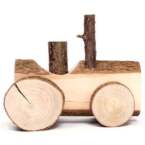 These Hand-Crafted Wooden Toys by Usuals are Made From a Hazel Tree #eco