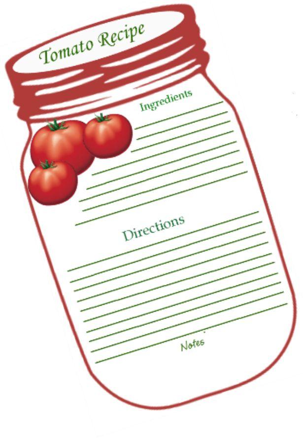 tomato recipe blank