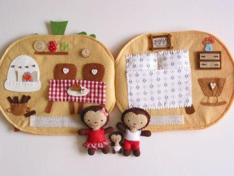 Sün Balázs és kis családjának tökházikója- játszókönyvecske, Baba-mama-gyerek, Játék, Baba, babaház, Készségfejlesztő játék, Meska