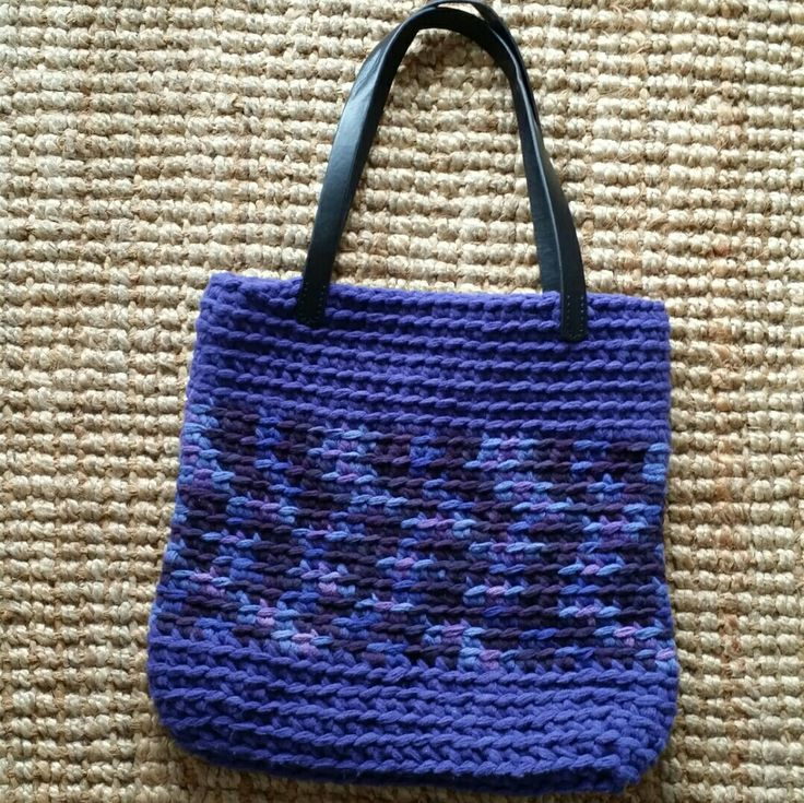 Chunky crochet bag Rico Creative Loopy Www.dollybobbins.co.uk
