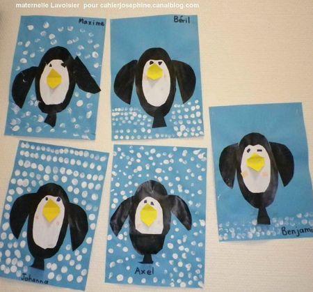pinguins maken met de jongste kleuters