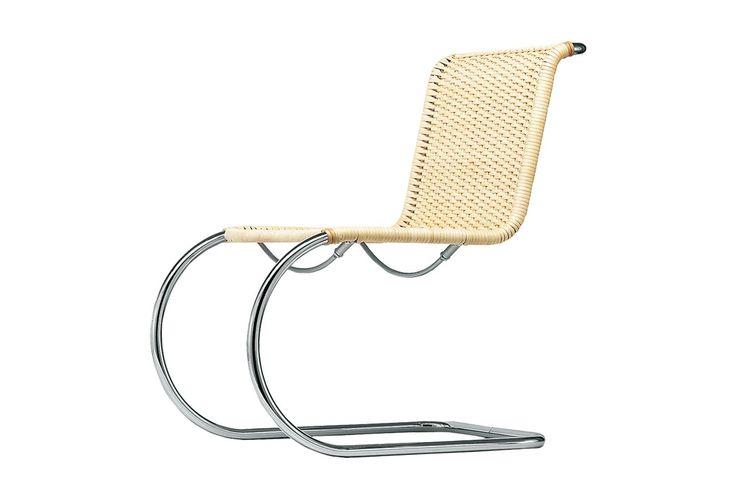 Der Stahlrohr-Freischwinger S 533 verbindet zeitlose Eleganz mit dem Komfort eines Sessels - THONET-Möbel - Stühle, Tische, Sessel und Sofas, Design-Klassiker aus Bugholz und Stahlrohr