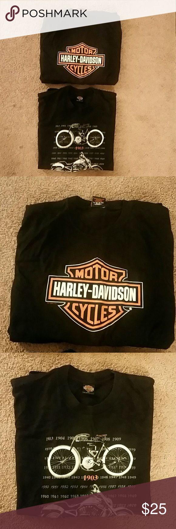 Mens Harley Davidson T-Shirts Bundle Of 2 Savannah,Georgia and Harley World Amsterdam  Holland T-shirts. In good condition. Harley-Davidson Shirts Tees - Short Sleeve