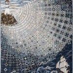 OVER THE WAVES by Setsuko Matsushima (Japan). Judge's Recognition Award. 2017 AQS QuiltWeek (Paducah).