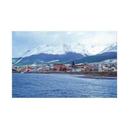 Ushuaia - Tierra del Fuego Argentina Canvas Print - customize create your own #personalize diy & cyo