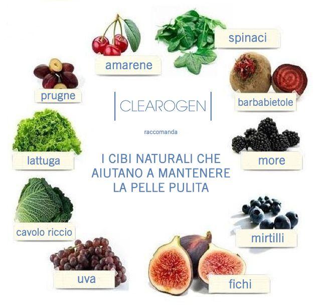 I cibi naturali che aiutano a mantenere la pelle pulita - by Clearogen