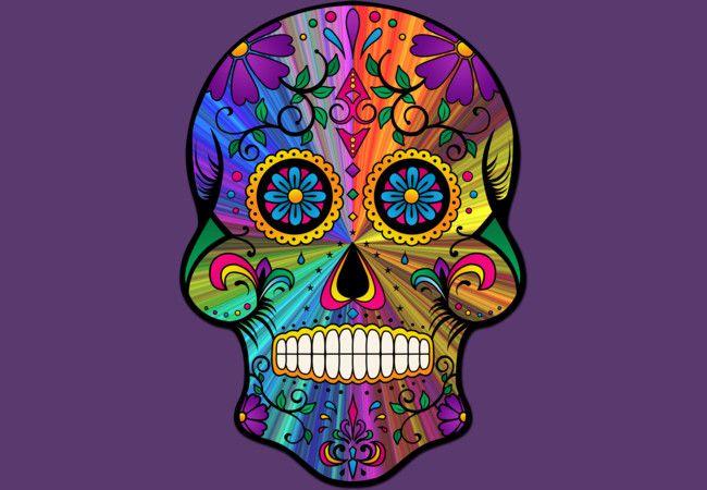 #skull #sugarskull #retro #Psychedelic #calavera #colourful #floral #ornamental #DBH #designbyhumans #Tees #shirts #Tshirts #hoodies #tanktops #phonecases #art #design #trending #fashion #DesignByHuman
