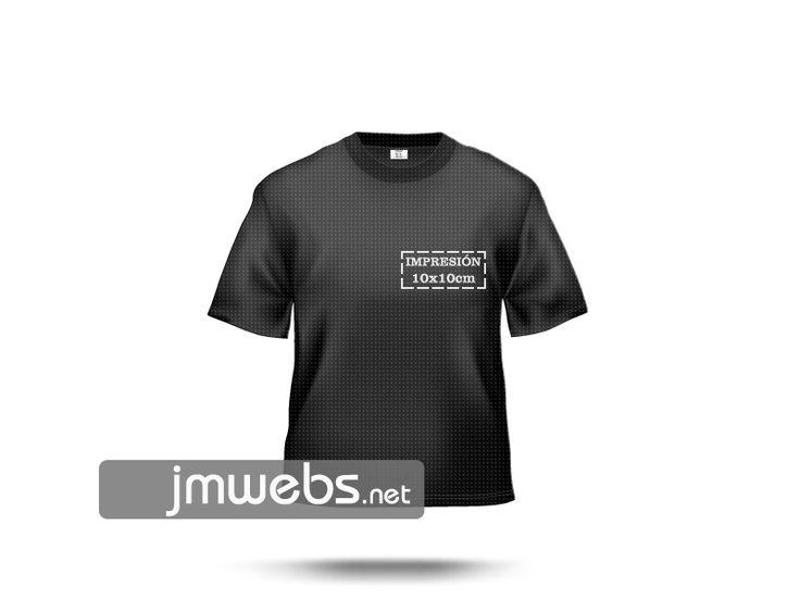 Camisetas Técnicas Deportivas personalizadas con estampación en vinilo de corte y/o impresión. Por delante y/o detrás medidas 10x10cm. Precios en nuestra web: www.jmwebs.net o Teléfono 935160047