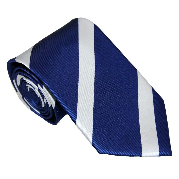 Look Your Best with this Impressive and Classy White Stripe Navy #Skinny #Tie at AusCufflinks