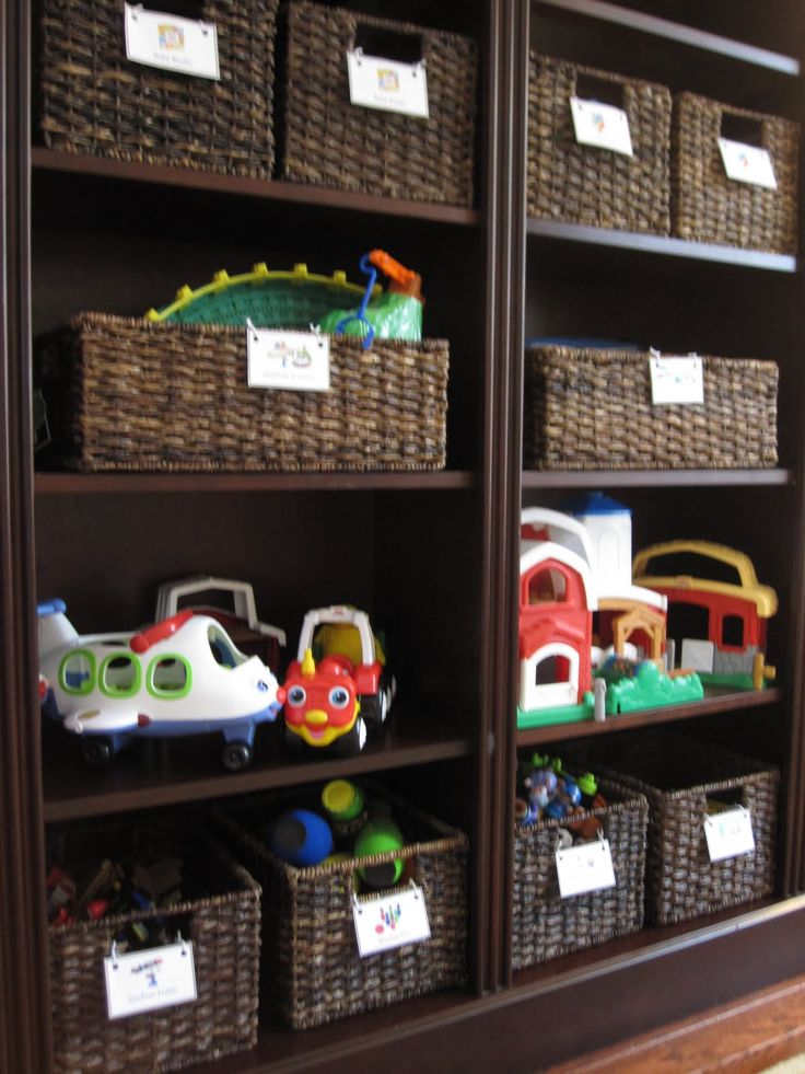 how to store large toys on a shelf - Google Search