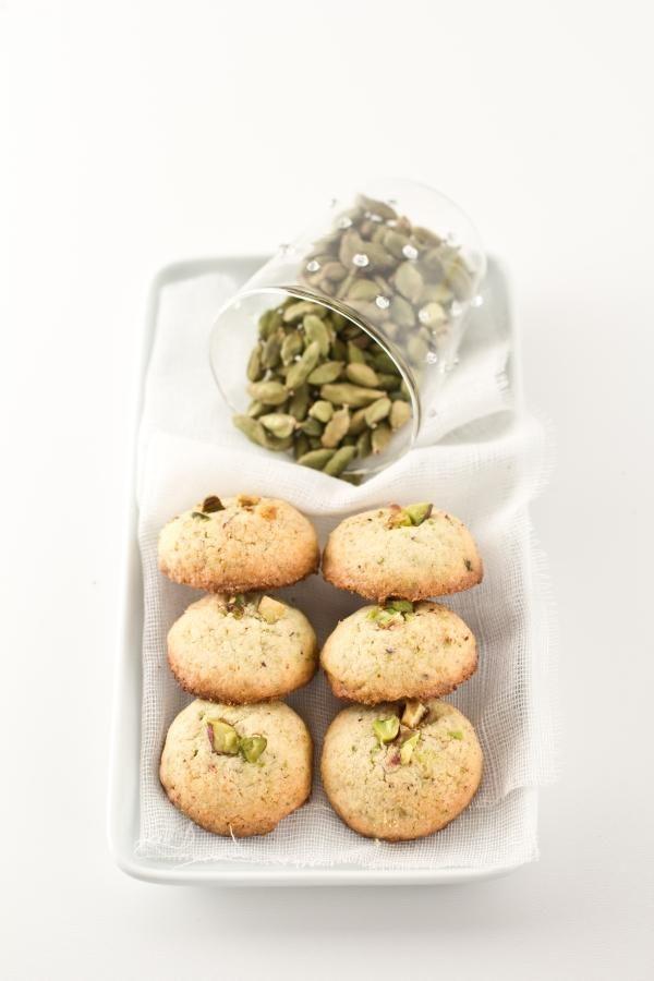 Biscotti+riso+e+pistacchio,+profumati+al+cardamomo