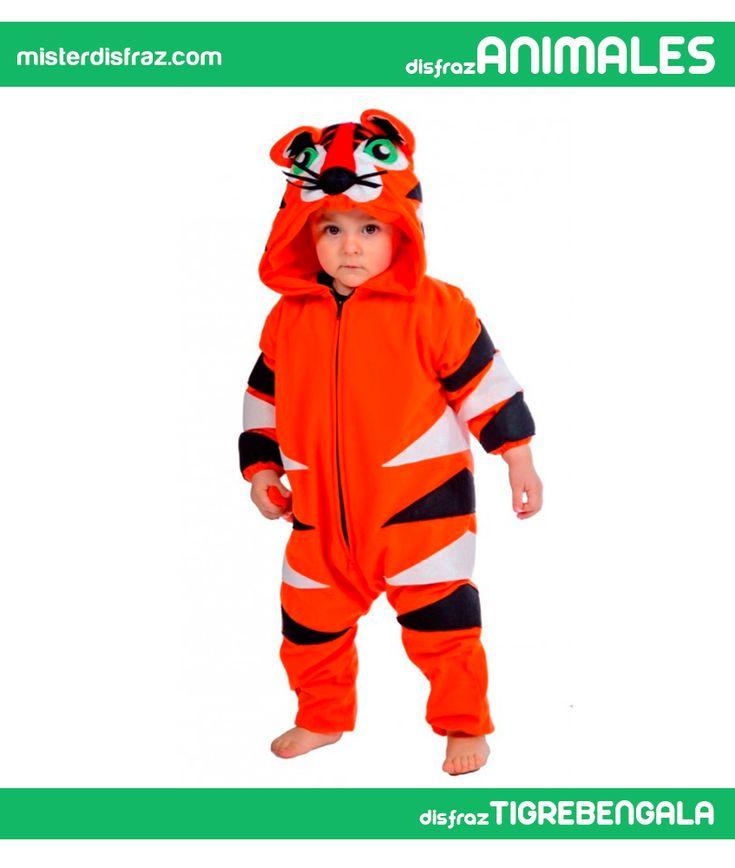 Disfraz de Tigre Bengala para Bebé. Con este divertido disfraz de Tigre tu niñ@ será uno de los protagonistas de la película de dibujos animados El libro de la selva. En la Guardería correrá divertidas aventuras escapándose del Zoo para disfrutar del Carnaval. #disfrazdeanimal #disfrazesdeanimales #disfraz #animal #disfrazbebe #bebe #tigrebengala #tigre #bengala