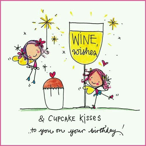 Wine wishes and cupcake kisses