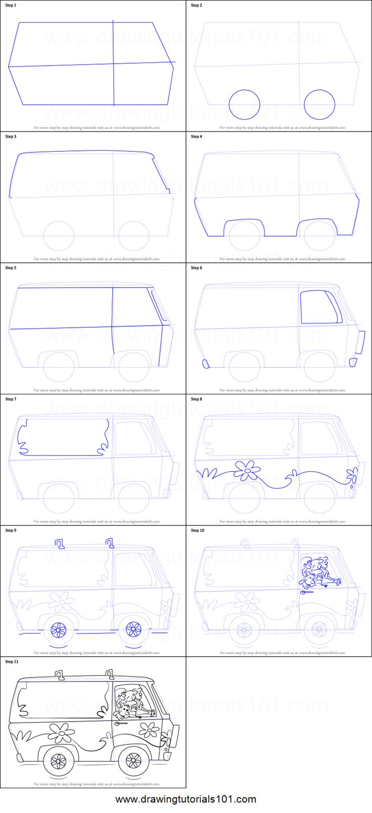 How To Draw The Mystery Machine From Scooby Doo Step By Step Printable Drawing Sheet To Print L Scooby Doo Scooby Doo Mystery Incorporated Scooby Doo Costumes