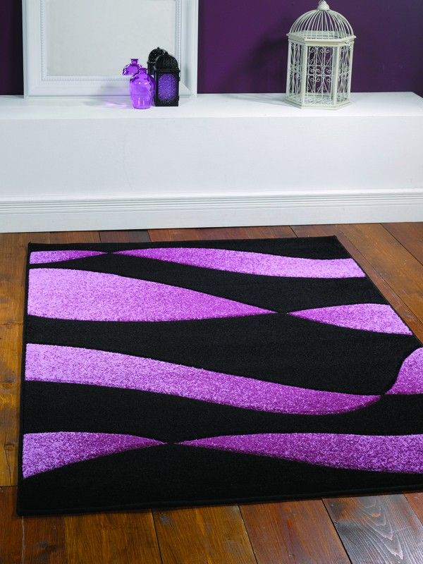 Orleans Organza Black Purple Rug Best Rugs To Pinterest Uk Online And