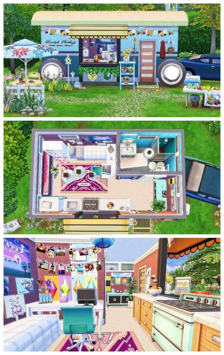 CARAVAN TINY HOME   Sims 4 Speed Build