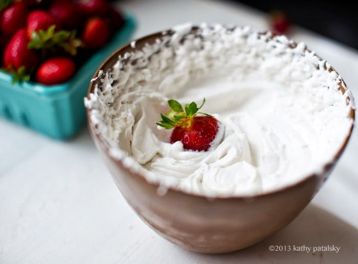 coconut whip pairs perfectly with berries!