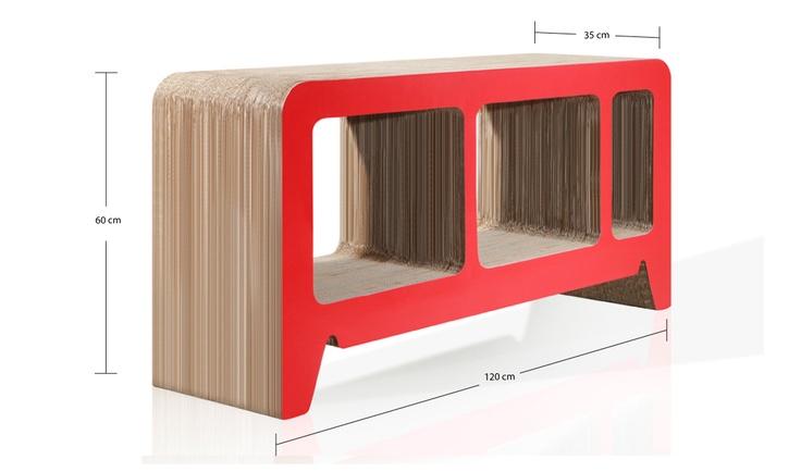 Georgia Red Sideboard Designed by Reinhard Dienes