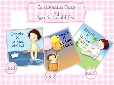 Grafic Scribbles: 3 Contavisite free per il blog