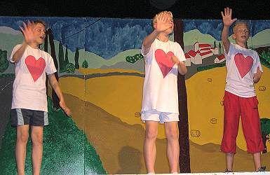 Voorbeeld scène Een paardenstaart uit Kudelstaart uit Bosolei