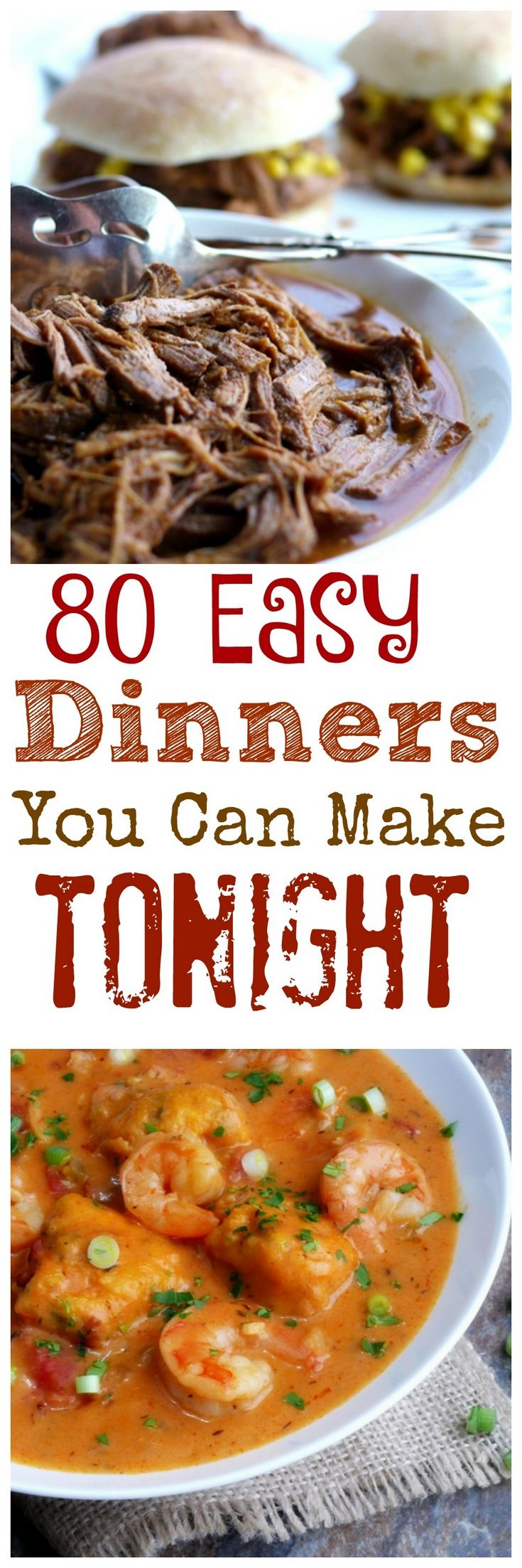 What's for dinner is the most asked question in my house! These 80 Easy Dinners You Can make tonight  is the perfect place for dinner inspiration from NoblePig.com.