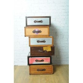 Retro industrial Trunk chest of drawers